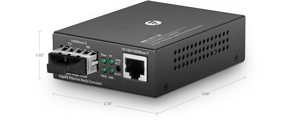 Conversores de Medios Gestionado Conversor de medios administrable gigabit ethernet 1x RJ45 a 1x SC