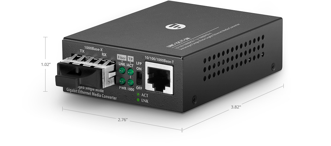 Unmanaged Media Converters Unmanaged 1x RJ45 to 1x SC Gigabit Ethernet Media Converter