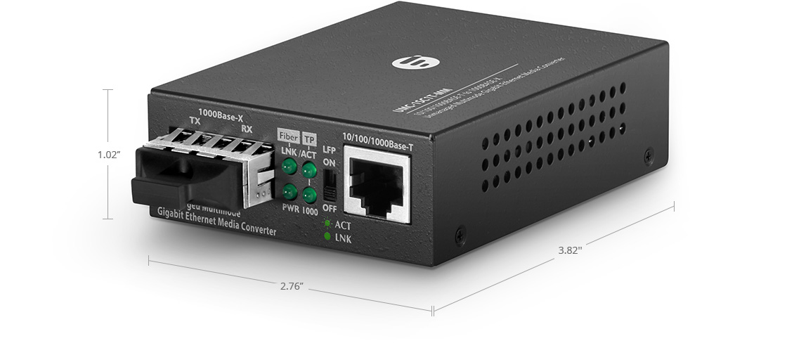 UnmanagedMediaConverters Unmanaged 1x RJ45 to 1x SC Gigabit Ethernet Media Converter