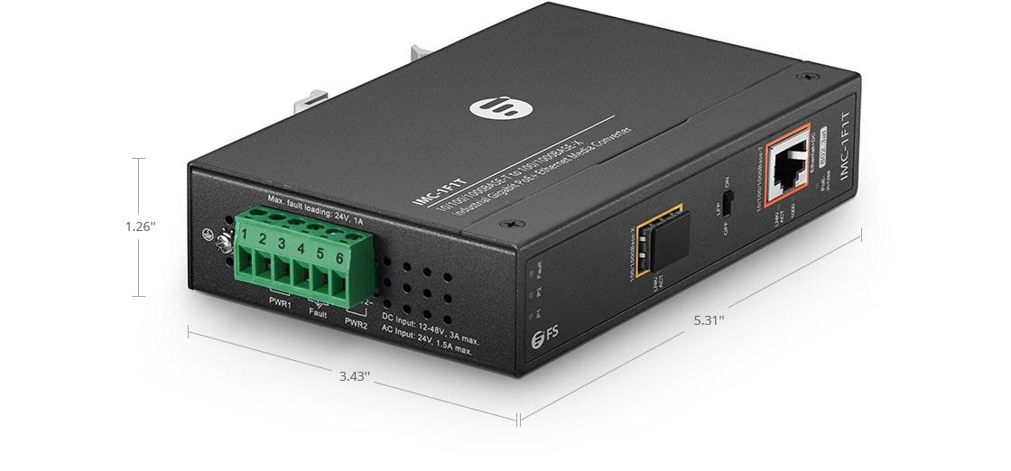 Convertisseurs de Média Industriels Convertisseur de Média Gigabit Ethernet PoE+ Industriel 1 x RJ45 vers 1 x SFP