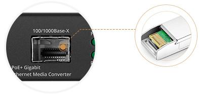 Convertisseurs de Média PoE Port SFP 100/1000Base-X