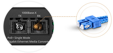 PoE Media Converters 1000Base-X SC Port
