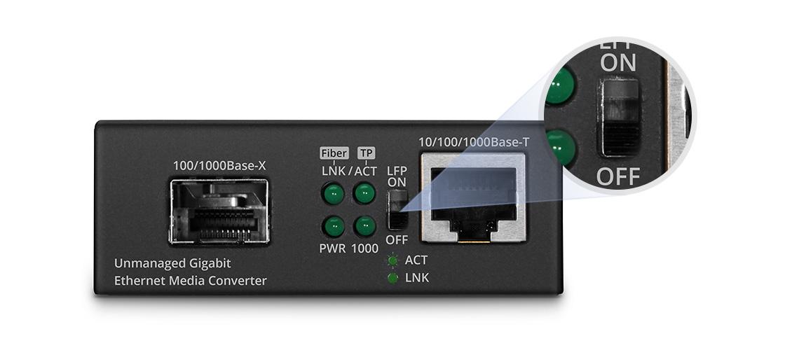 UnmanagedMediaConverters Link Fault Pass Through (LFP) Function