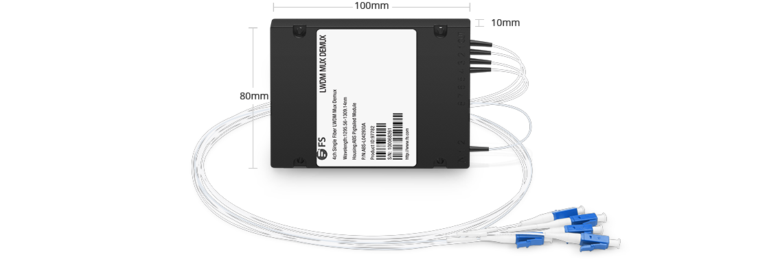LWDM Mux Demux Mux/Demux 4 Channels over Single Fiber