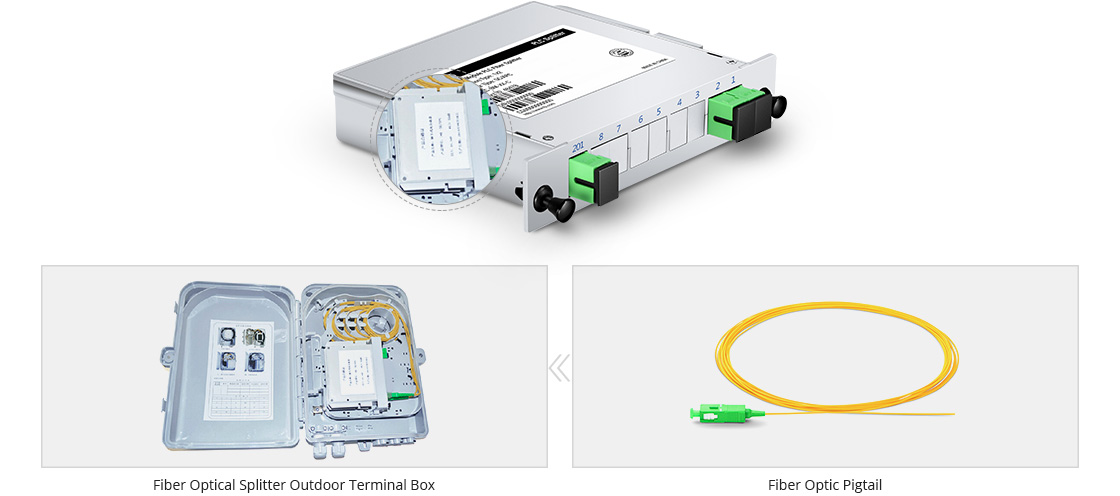 Customized PLC Splitter Small Size and Compact Design