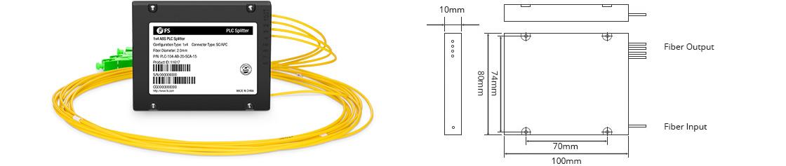 Splitter PLC ABS Structure et Dimension