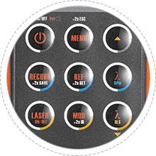 Multímetros ópticos Diseño de botones antipolvo