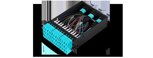 FHD MPO-LC Cassettes  Corning ClearCurve OM4 Fiber