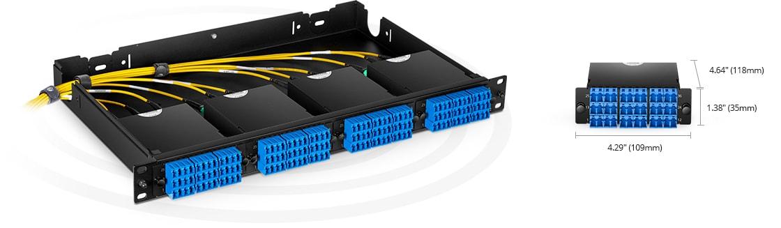 MTP®/MPO Fiber Cassettes Rapid Deployment in Ultra High Density Applications