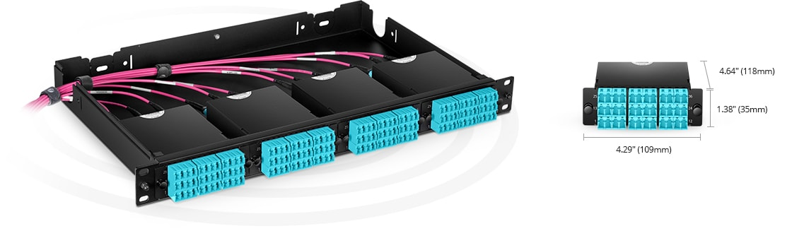 MTP®/MPO Fiber Cassettes Rapid Deployment in Ultra High Density Applications