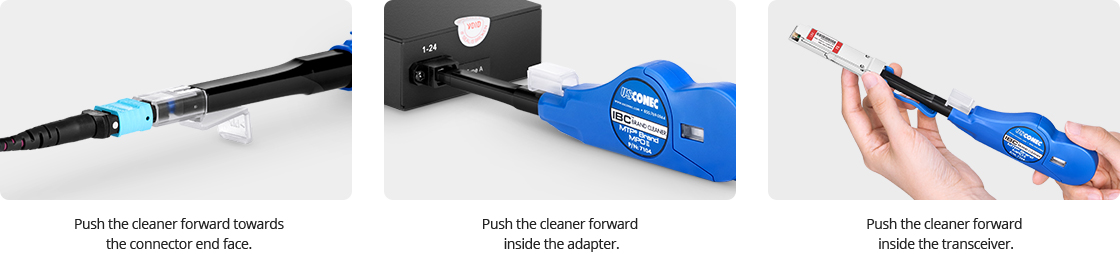 Nettoyage Fibre Optique Instructions d'utilisation du Stylo de Nettoyage