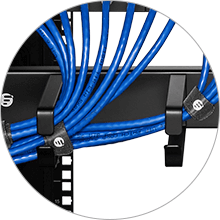 Horizontal Cable Managers Ample Room to Hold