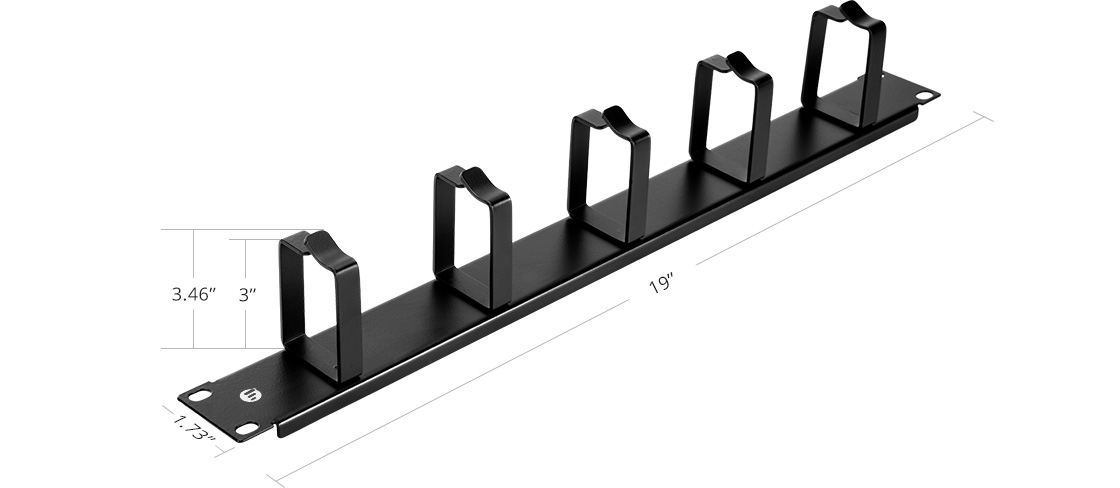Horizontal Cable Managers Lightweight and Sturdy Construction