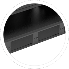 FHD Rack Mount FHD adapter panels or MTP®/MPO cassettes accomodated.