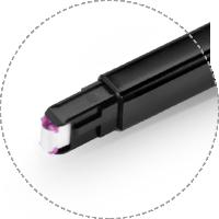 光ファイバ清掃用具 ほつれない布付きのクリーニングヘッドデザイン