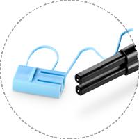 Fibre Optic Cleaning Tip design for LC duplex connectors