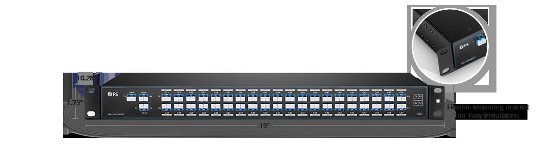 DWDM波長合分波モジュール デュアルファイバ上の40チャネルMux/Demux