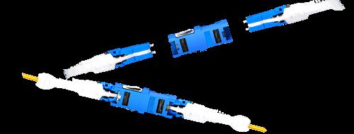 Оптические адаптеры/соединители  Простое подключение CS™ двух оптических кабелей