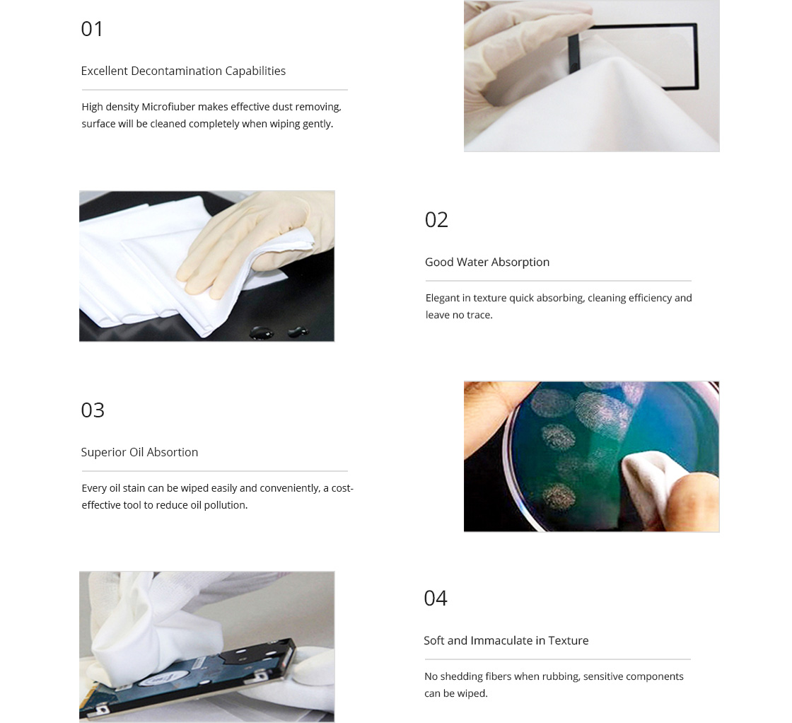 Nettoyage Fibre Optique Lingettes de Nettoyage Économiques avec des Fonctions Pratiques