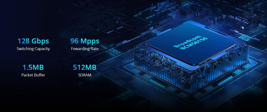 Switches 1G/10G Chip de conmutación Broadcom BCM56150