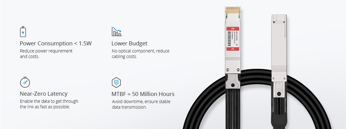 Dell 高性能な400G QSFP-DD DAC