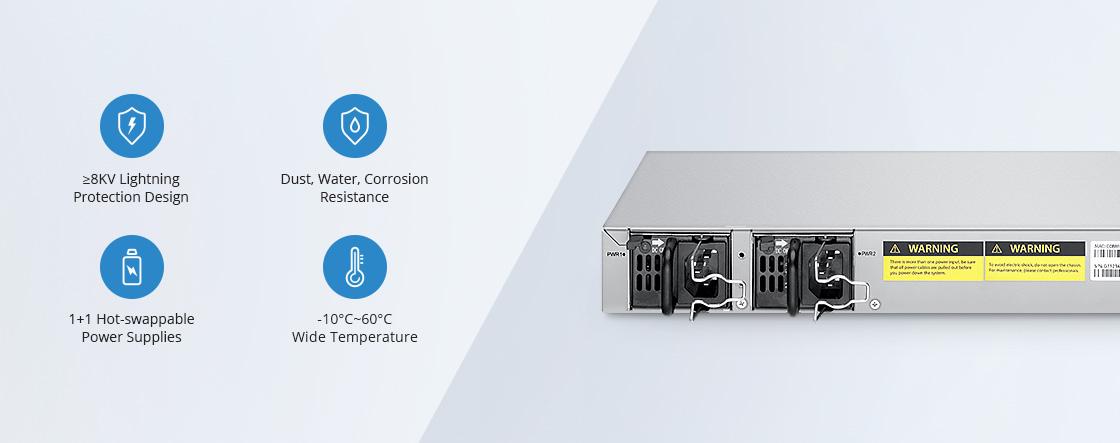1G/10Gスイッチ 強化されたハードウェア保護