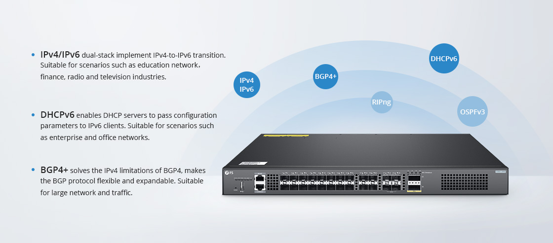 1G/10G Switches IPv6 for Future Network Expansion