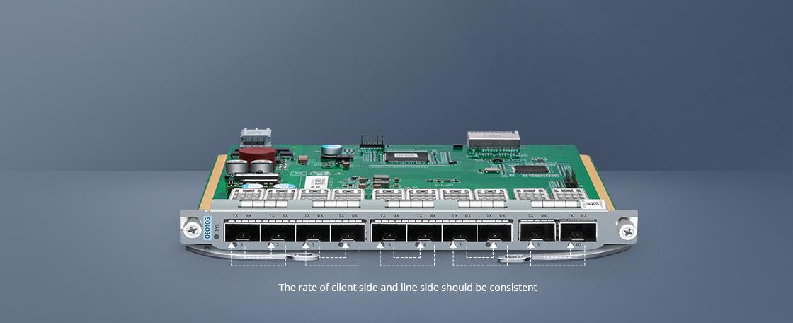 10G/25G Transponder (OEO) Fünf unabhängige Transponder
