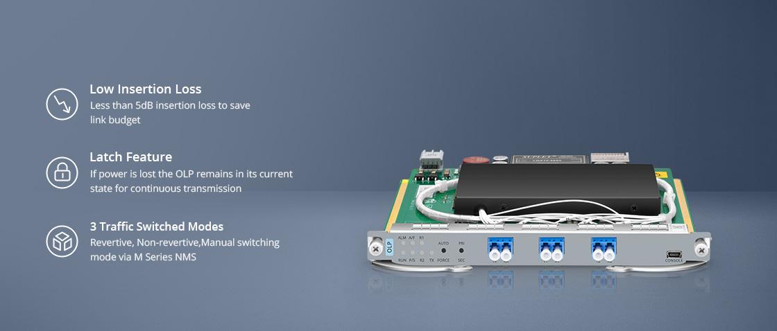 光回線保護 1+1 OLPライン保護モジュール