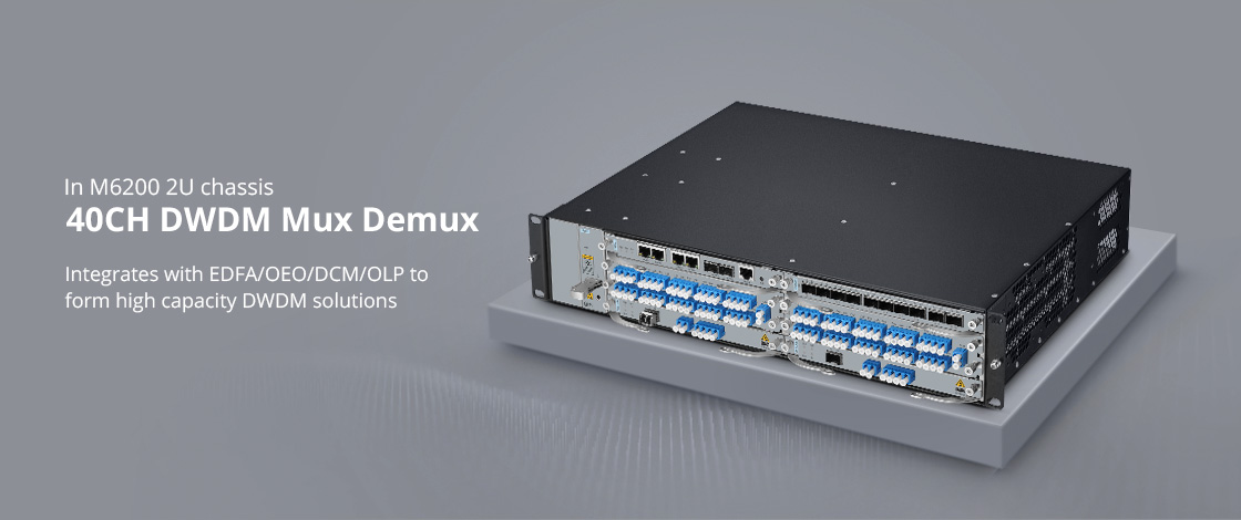 DWDM Mux Demux Highly Integrated With M6200 Series
