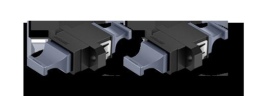Adaptadores/Acopladores Buena protección con tapa antipolvo