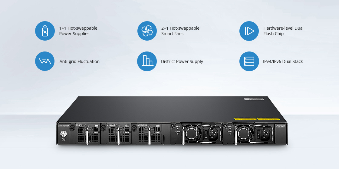 Switch 1G/10G Haute Redondance pour une Sécurité Renforcée