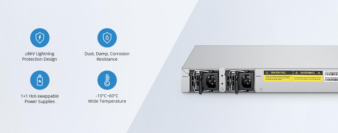 Switches 1G/10G Protección de hardware mejorada