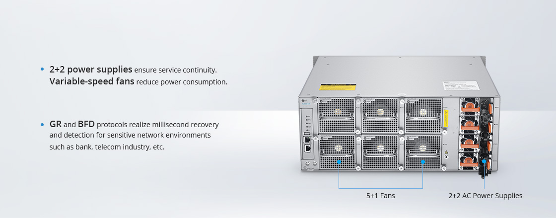 100G Switches Multiple Reliability Protection for Uninterrupted Services