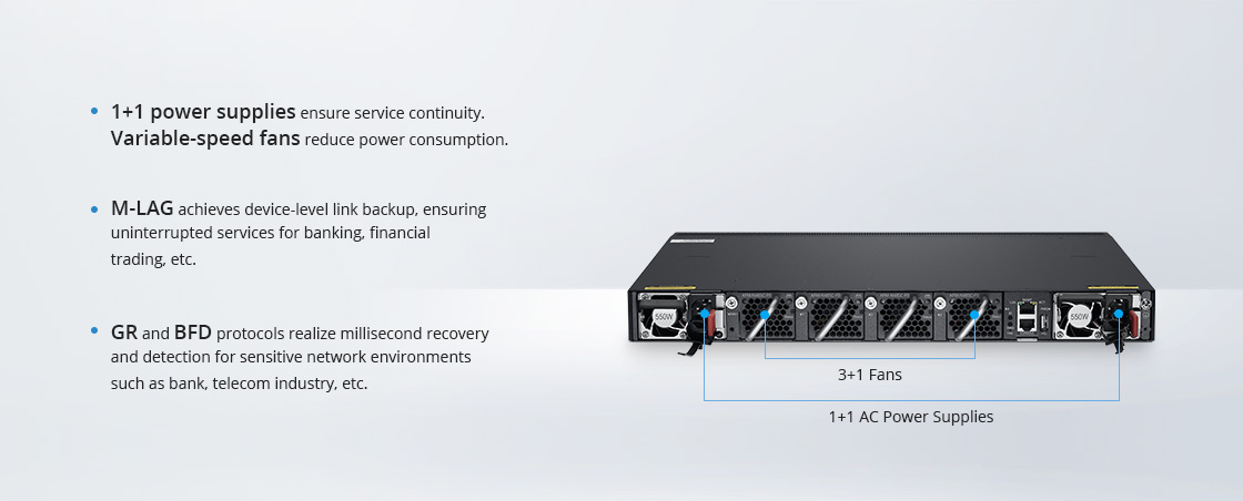 10G Коммутаторы Multiple Reliability Protection for Uninterrupted Services