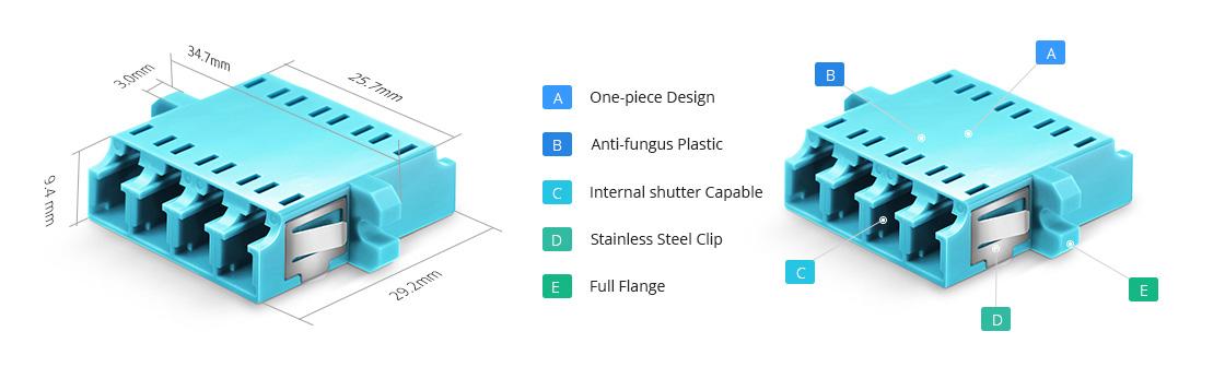 Adaptadores/Acopladores Adaptador de fibra óptica