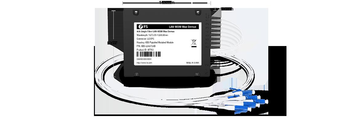LWDM Mux Demux Mux/Demux de 4 canales sobre una sola fibra