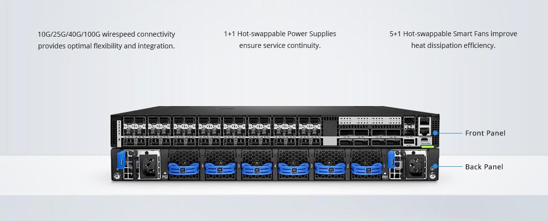 25Gスイッチ 信頼性の高い工業級ハードウェアアーキテクチャ