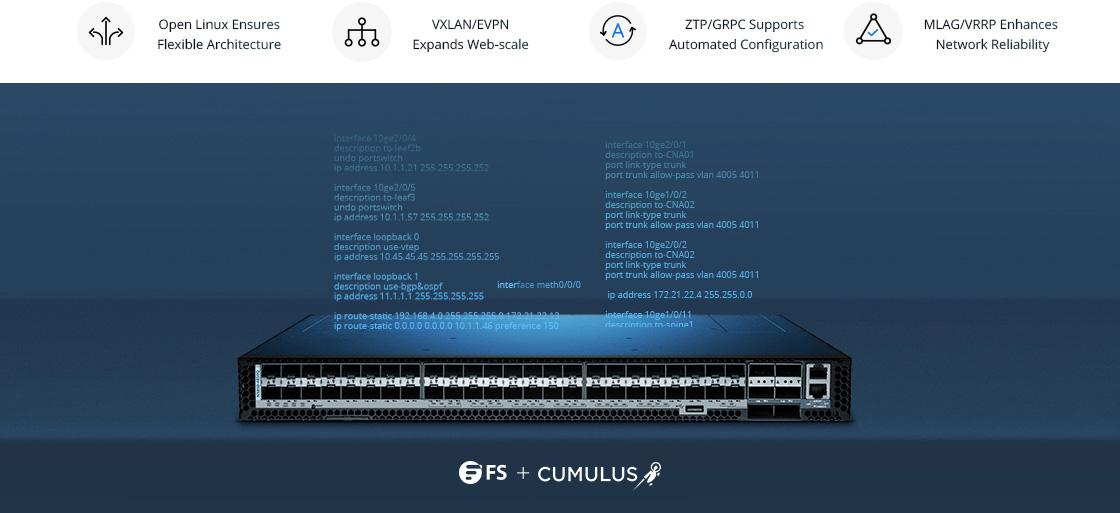 Switch 10G Cumulus Linux Complémente Parfaitement les Commutateurs FS
