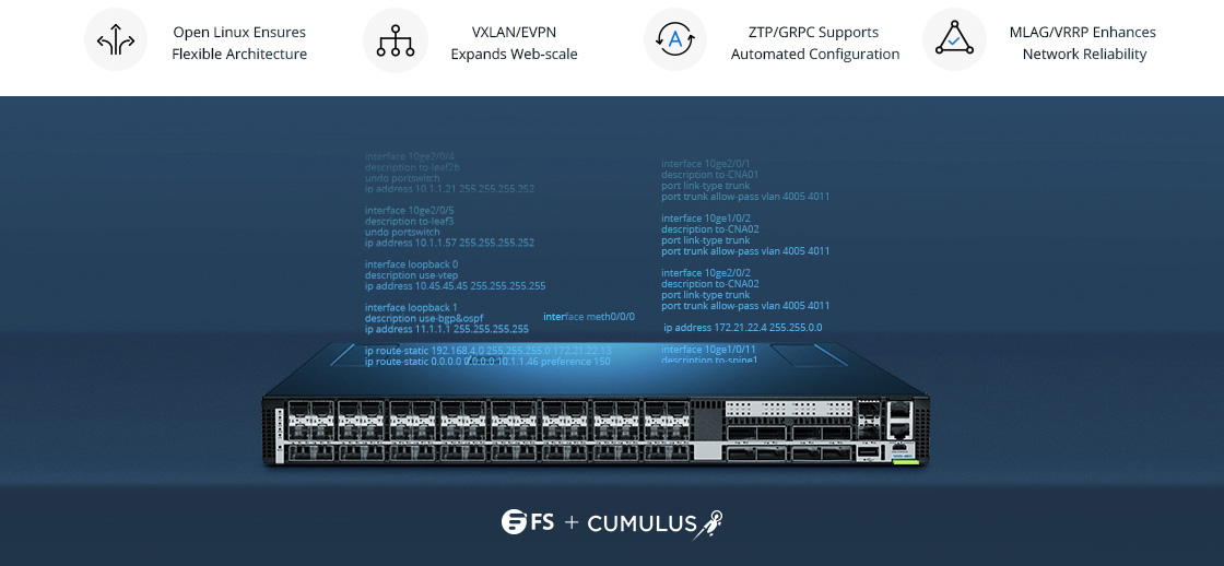 25G Switches Cumulus Linux Perfectly Complements FS Switch
