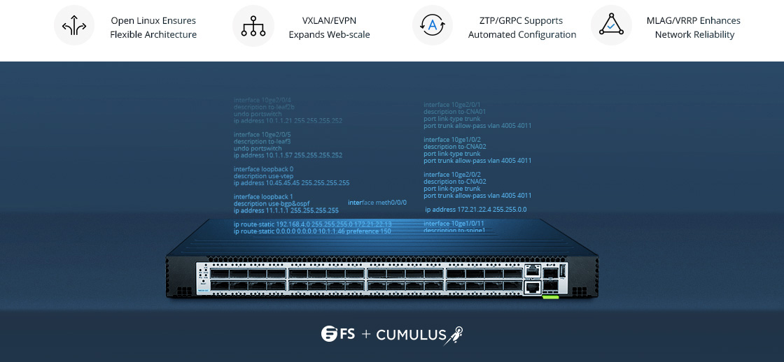100G Switches Cumulus Linux Perfectly Complements FS Switch