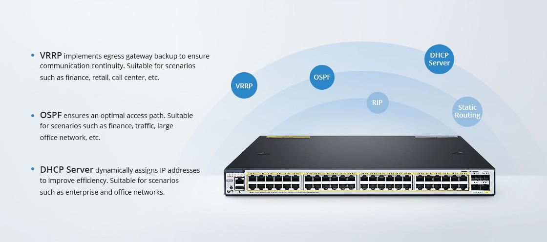 Switches 1G/10G Protocolos de capa 3 para diversos escenarios