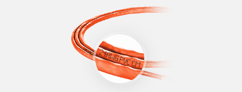 Cable de red personalizado  Chaqueta de PVC con clasificación CM