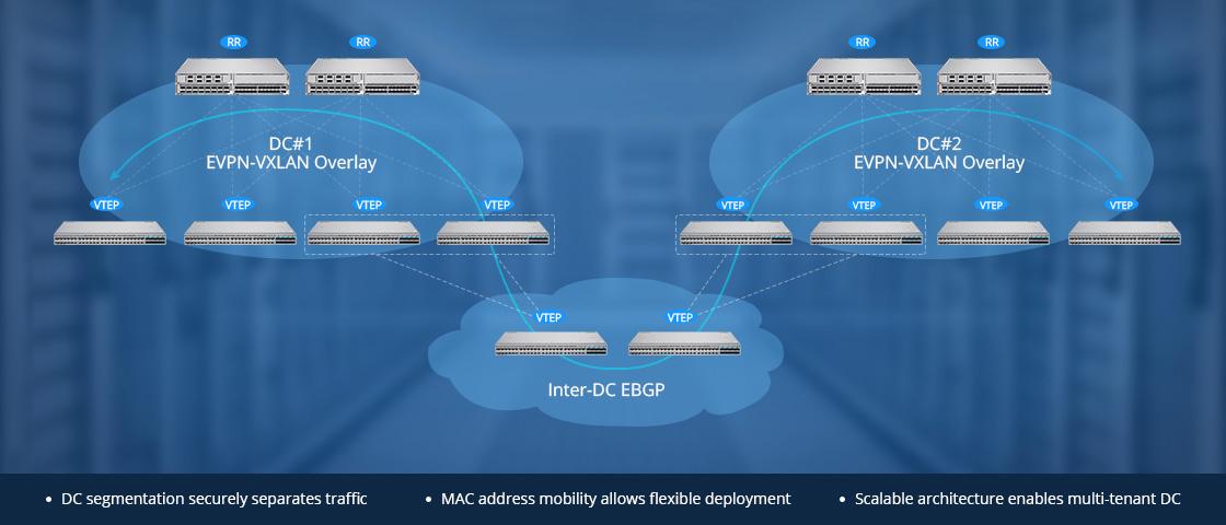 Switch 25G Réseau de Superposition EVPN-VXLAN pour Interconnexion de Centre de Données