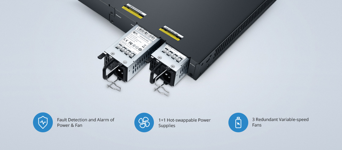 Switches 1G/10G Alta redundancia para seguridad mejorada