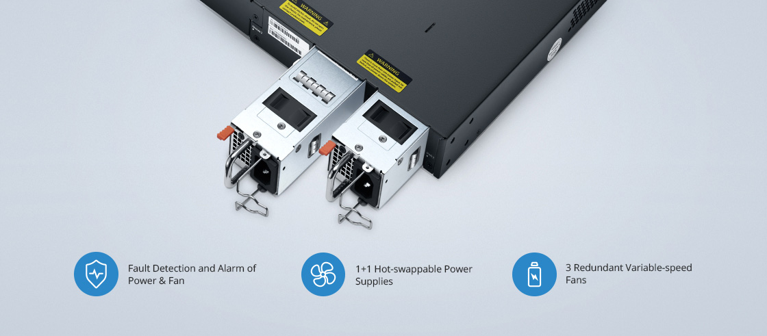 1G/10G Switches High Redundancy for Enhanced Security