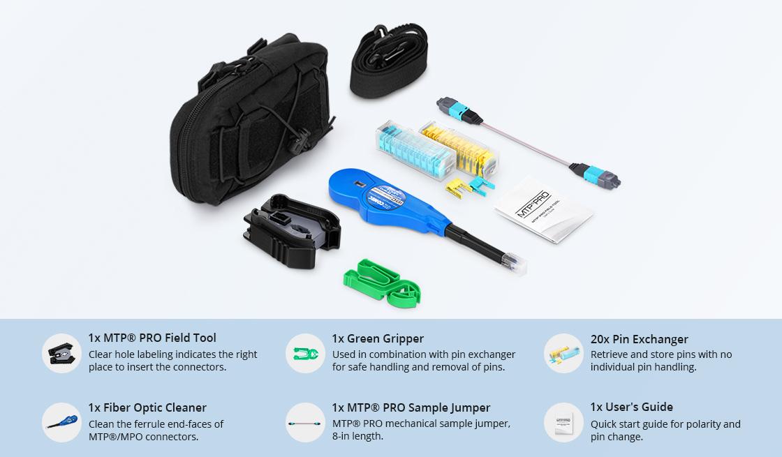 Fiber Optic Tool Kits MTP® PRO Field Tool Kit Components