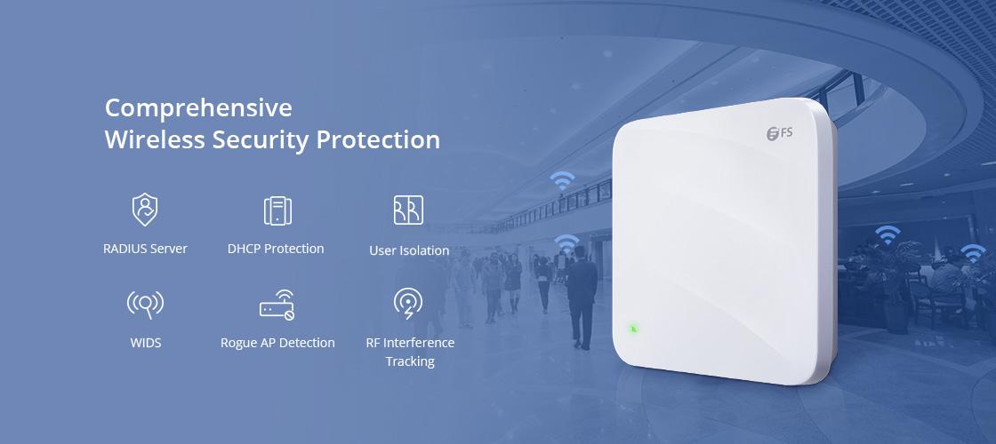 Punto de acceso Wi-Fi 6 La seguridad inalámbrica avanzada protege tus datos