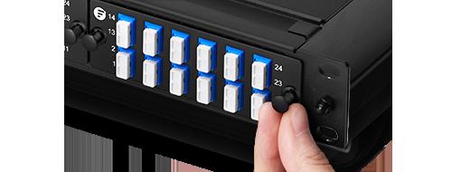 Fibre Optic Panels  4. Tool-less Installation with Plastic Rivets