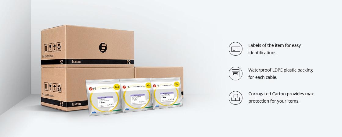 Maßgeschneiderte LWL-Kabel Verpackung & Etikettierung